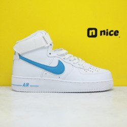 Air force1 07'V8 Mid NIKE Unisex Sneakers White Blue AT4141 102