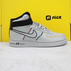 Nike Air Force 1 07 Mid Day of the Dead Unisex Sneakers Grey Black CT1138-100