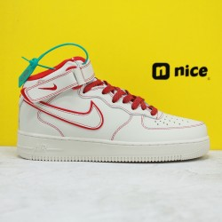 Nike Air Force 1 07 LV8 3M Unisex Sneakers White Red AA1118-010