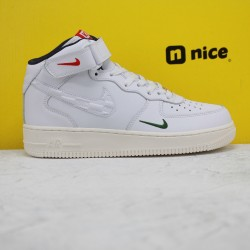 Nike Air Force1 Mid Ronnie Fieg White Red Blue Unisex Sneakers CU2980-195