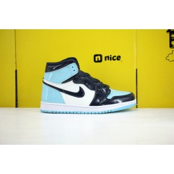 Nike Air Jordan 1 High OG Blue Chill Unisex Basketball Shoes Blue Black CD0461-401