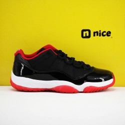 Nike Air Jordan 11 AJ11 Low Mens Basketball Shoes Black White Red 528895 01