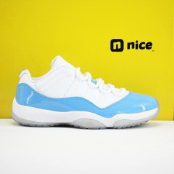 Nike Air Jordan 11 AJ11 Low Mens Basketball Shoes White Blue 136053 141