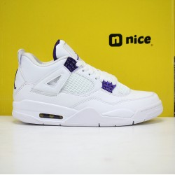 Nike Air Jordan 4 Pure Money Mens Basketball Shoes White Purple CT8527-115