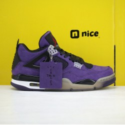 Nike Air Jordan 4 Retro AJ4 Mens Basketball Shoes Purple Black White