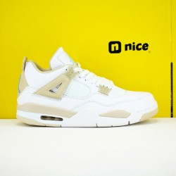 Nike Air Jordan 4 Linen Mens Basketball Shoes White Beige 487724-118