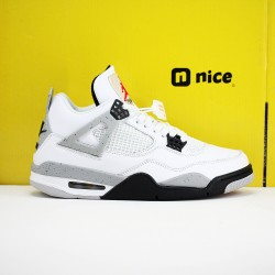 Nike Air Jordan 4 Retro Red AJ4 Mens Basketball Shoes White Grey Black 840608 192