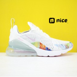 Nike Air Max 270 Flyknit Unisex Fresh Shoes White AT6819-100