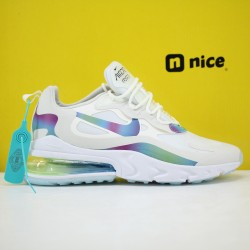 Nike Air Max 270 React Mens Sneakers White Fluo Green Blue CT5064 100