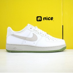 Nike Air Force 1 07 Low AF1 Unisex Shoes White Grey Green Sneakers CL8155 200