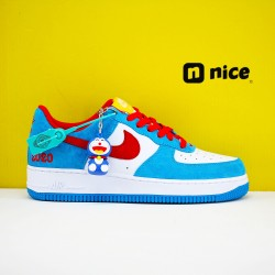 Nike Air Force 1 07 Low Unisex Shoes White Blue Red Sneakers DK1288 600