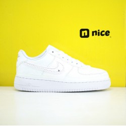 Nike Air Force 1 07 Lx Reveal Unisex Shoes All White Sneakers CJ1650-101