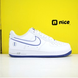 Nike Air Force 1 07 Unisex Shoes White Blue Sneakers AF1 CJ1366 003