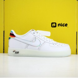 Nike Air Force 1 Betrue  Unisex Shoes White Rainvow Sneakers CV0258-100