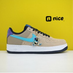 Nike Air Force 1 Expands Its ACG Styling With Blue Fury Swooshes Unisex Shoes Khaki Blue Sneakers CD0887-201