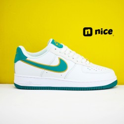 Nike Air Force 1 Low 07 Unisex Shoes White Green Sneakers AH0287-011