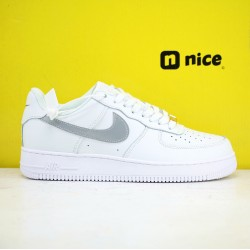 Nike Air Force 1 Low 07 Unisex Shoes White Silver Sneakers AH0287-012