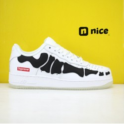 Nike Air Force 1 Low AF1 19s Unisex Shoes White Black Sneakers BQ7541 101