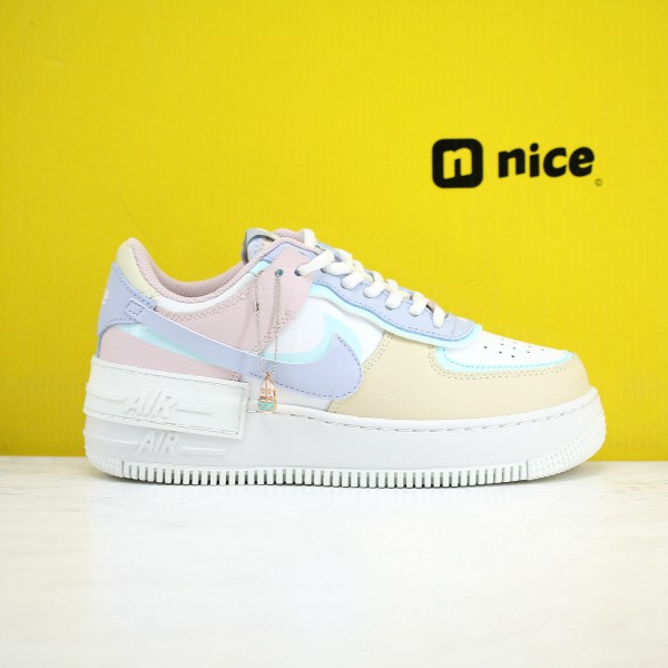 Nike Air Force 1 Shadow AF1 Womens Shoes Blue Pink White Sneakers CI0919 106