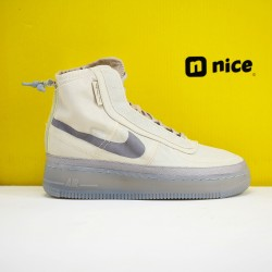 Nike Air Force 1 Shell WMNS Sneakers Light Grey Beige Shoes BQ6096-002