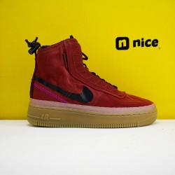 Nike Air Force 1 Shell WMNS Sneakers Red Black Shoes BQ6096-200