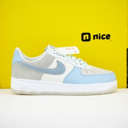Nike Air Force 107 Low Ghost Aqua Sail Unisex Shoes Blue White Sneakers AO2425-400