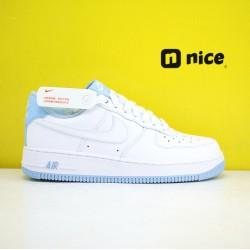 Nike Air Force 1 07 Low AF1 Unisex Shoes White Blue Sneakers CD6915 103