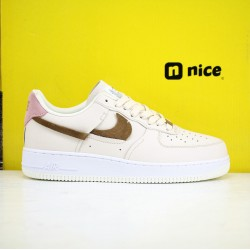 Nike Air Force 1 07 Lxx LT AF1 Unisex Shoes Pink Beige Sneakers DC1425-100