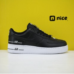 Nike Air Force 1 07 Unisex Shoes Black White Sneakers AF1 CJ1379-001