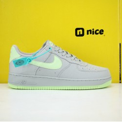 Nike Air Force 1 Low AF1 19s Unisex Shoes Grey Green Sneakers 315122-107