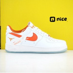 Nike Air Force1 LOW 07 AF1 Unisex Shoes White Red Sneakers CJ8596-103