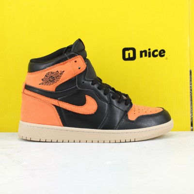 Nike Air Jordan 1 Retro High OG Orange Black Basketball Shoes Mens AJ1 Sneakers  555088-028