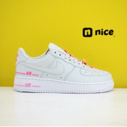 Nike Wmns Air Force 1 07 Low Shoes White Pink AF1 Sneakers  CJ4092-002