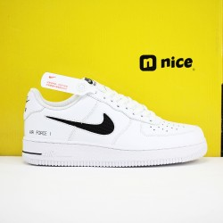 World Wide Nike Air Force 1 AF1 XHU Unisex Shoes White Black Sneakers CZ7377 100