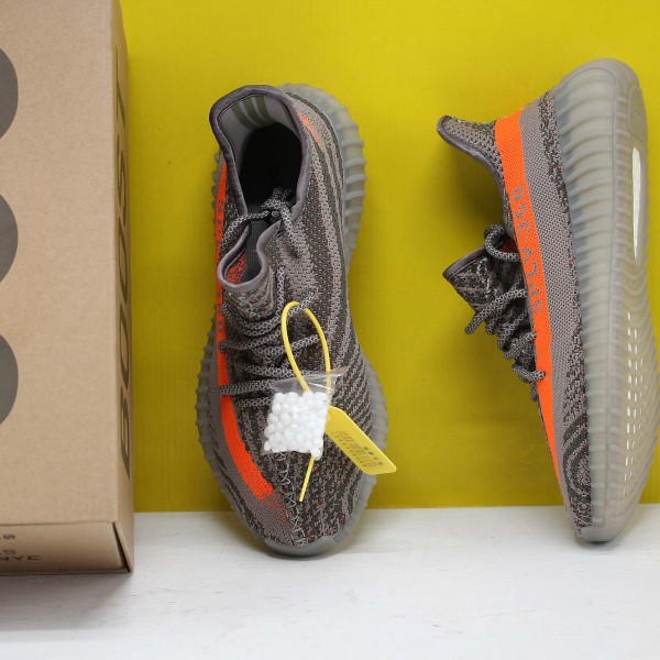 "Adidas Yeezy 350 Boost V2 ""Beluga"" Orange/Grey Fresh Shoes Unisex Sneakers BB1826"