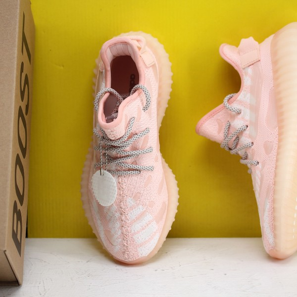 "Adidas Yeezy 350 v3 ""Pink/Cloud White"" Fresh Shoes WMNS FC9217 Sneakers"