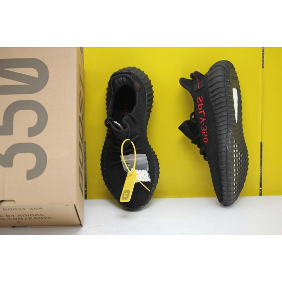 Adidas Yeezy Boost 350 V2 Black/Red Core Black/Red Fresh Shoes Unisex Sneakers CP9652 For Sale