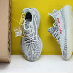 "Adidas Yeezy Boost 350 V2 ""Blue/Tint"" Grey Three/High Resolution Red Fresh Shoes Unisex Sneakers B37571"