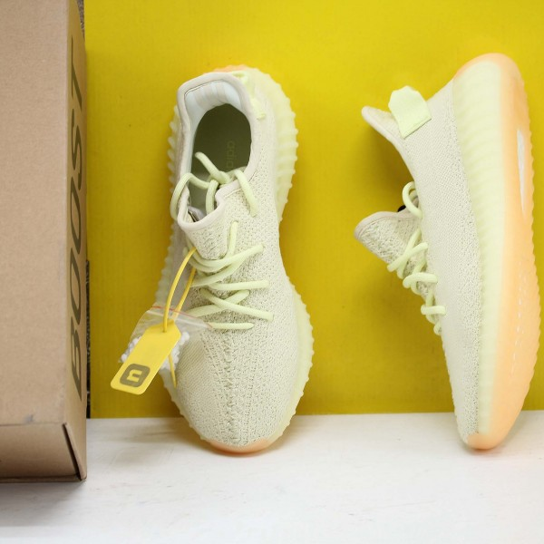 "Adidas Yeezy Boost 350 V2 ""Butter"" Yellow/LTgreen Fresh Shoes Unisex Sneakers F36980"