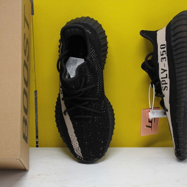 "Adidas Yeezy Boost 350 V2 ""Core Black White"" Black/White Fresh Shoes BY1604 Unisex Sneakers"