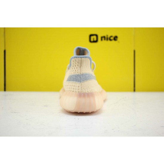 Adidas Yeezy Boost 350 V2 Linen Yellow/Ltblue Fresh Shoes Unisex Sneakers FY5158 Free Shipping