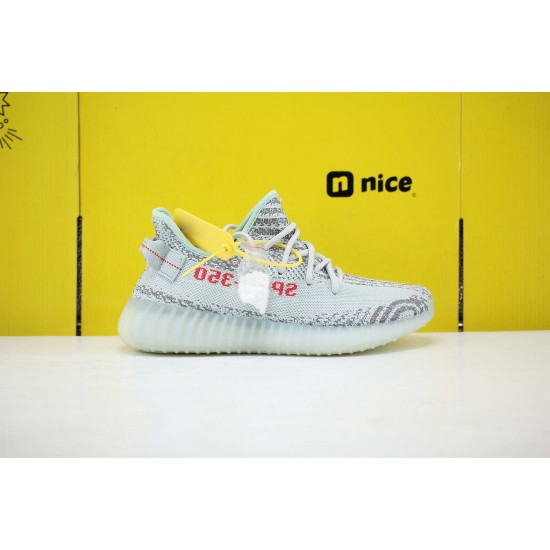Adidas Yeezy Boost 350 V2 Blue/Tint Grey Three/High Resolution Red Fresh Shoes Unisex Sneakers B37571 Free Shipping