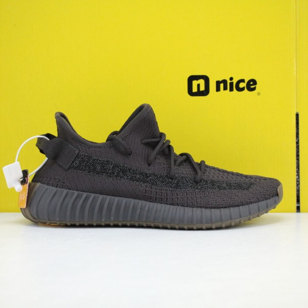 "Adidas Yeezy Boost 350 V2 ""Cinder Reflective"" Black Fresh Shoes FY4176 Unisex Sneakers"