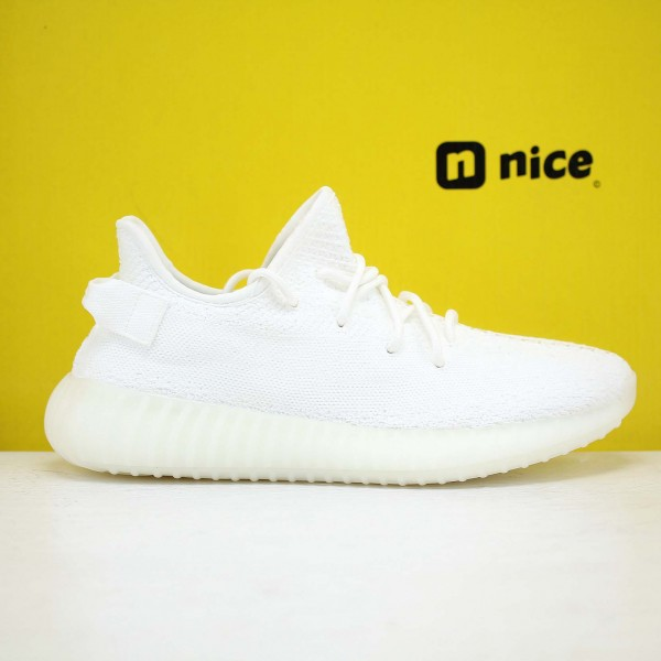 "Adidas Yeezy Boost 350 V2 ""Cream/Triple White"" White Fresh Shoes CP9366 Unisex Sneakers"