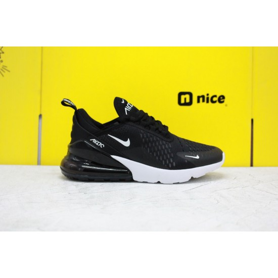 Nike Air Max 270 Black/White Fresh Shoes AH6789 001 WMNS Sneakers Factory Outlet
