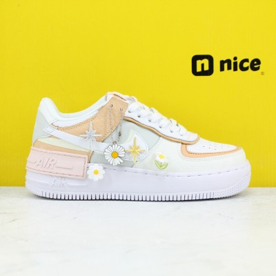 "Nike WMNS Air Force 1 Shadow ""Tropical Twist"" Womens Fresh Shoes CK3172 002 AF1 Sneakers Outfit"