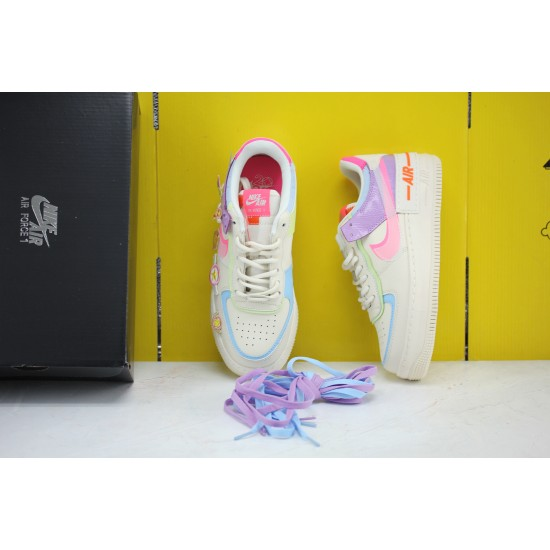 Nike Air Force 1 Shadow White/Pink/Purple Fresh Shoes CU3012-164 AF1 WMNS Sneakers Factory Outlet