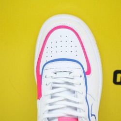 "Nike WMNS Air Force 1 Shadow ""Cotton Candy"" White/White-White-Hyper Pink Fresh Shoes CU3012 111 Womens Sneakers"