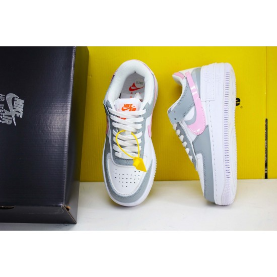 "Nike WMNS Air Force 1 Shadow ""Photon Dust Pink Foam"" Fresh Shoes CZ0370 100 Womens Sneakers"