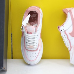Nike WMNS Air Force 1 Shadow Pink/White Fresh Shoes AF1 Sneakers CJ1641 101